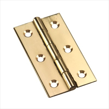 Richelieu Hardware 594Sbr Solid Brass Brass Narrow Butt Hinge 2-1/2 Inch X1-3/8 Inch Bright Brass Finish