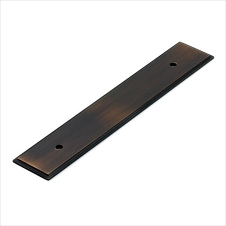 Richelieu Hardware Bp1045128Borb Rectangular Metal Pull Backplate 128MM Brushed Oil Rubbed Bronze Finish