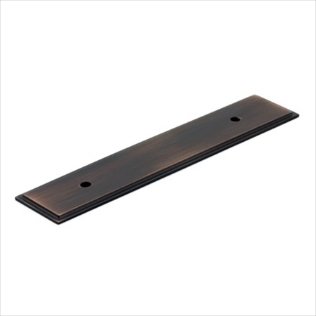 Richelieu Hardware Bp104596Borb Rectangular Metal Pull Backplate 96MM Brushed Oil Rubbed Bronze Finish