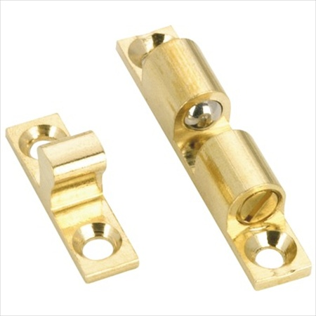 Richelieu Hardware Bp5531130 Brass Double Roller Catch 44MM X 8MM Brass Finish
