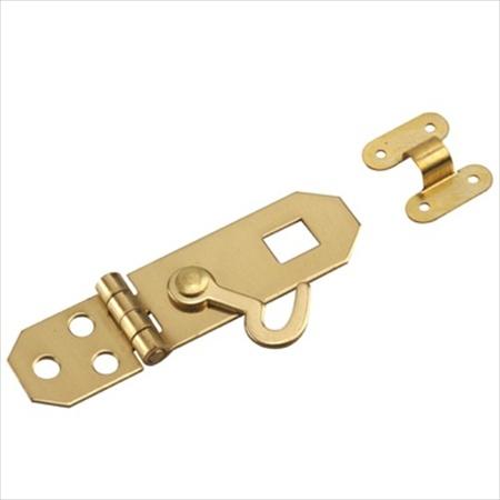 Richelieu Hardware 343Sbr Solid Brass Hasp W/Hook 3/4 X2-3/4 Inch Bright Brass Finish