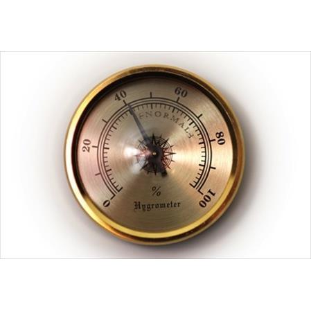 Richelieu Hardware 02044130 Hygrometer 20X44MM Plastic & Brass Finish