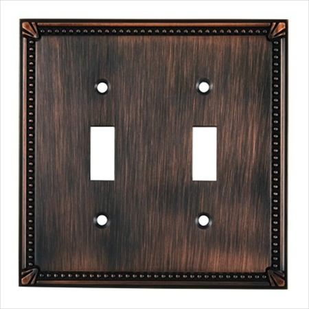 Richelieu Hardware Bp8633Borb Traditional Metal Switch Plate 2 Toggle 123X123MM Burnished Oil Rubbed Bronze Finish