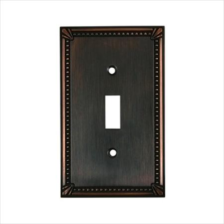 Richelieu Hardware Bp863Borb Switch Plate 1 Toggle 125X77MM Burnish Oil Rubbed Bronze Finish