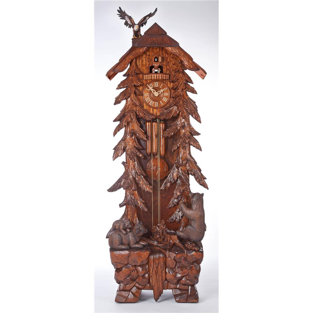 River City Clocks GR-BEAR Grandfather Cuckoo Clocks