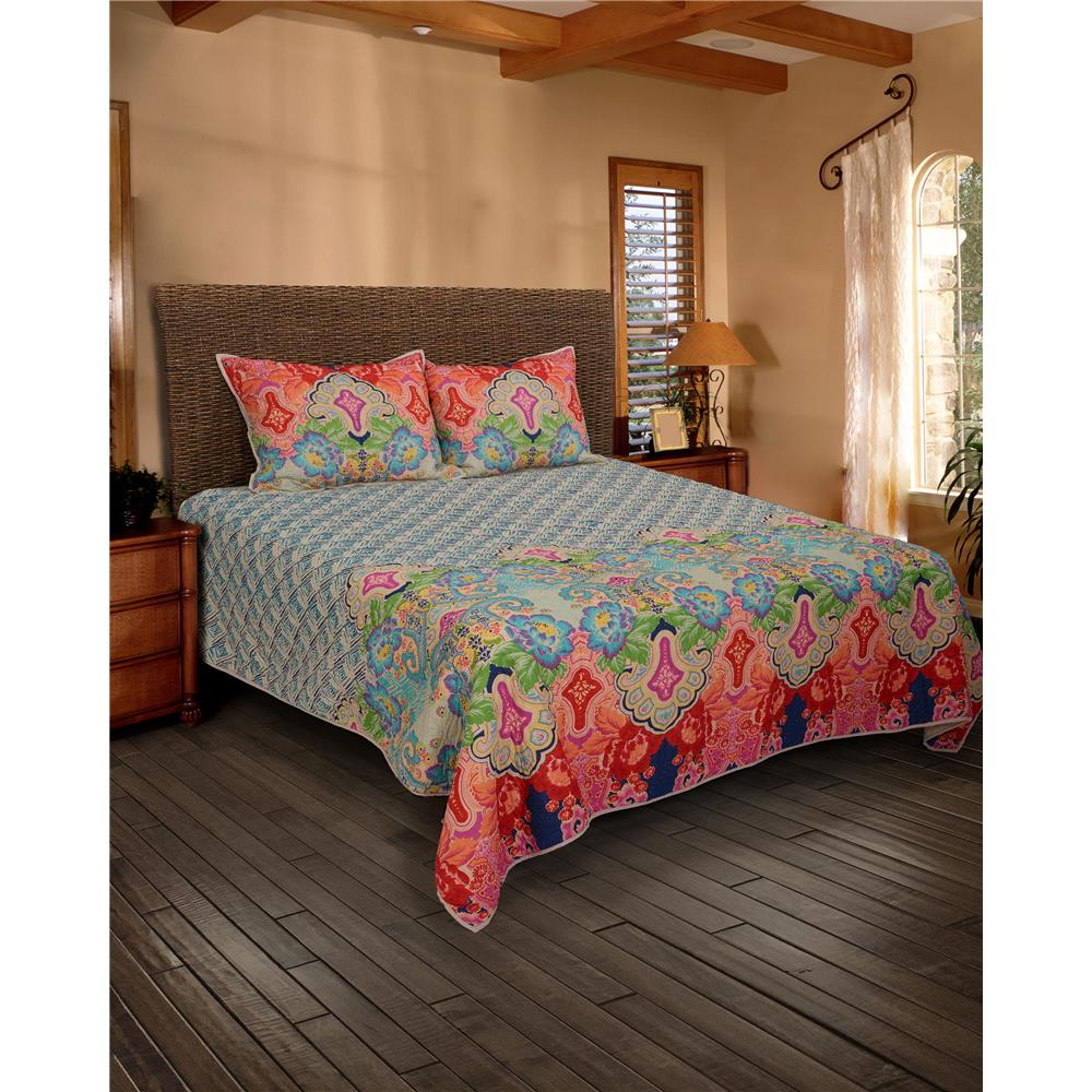 Rizzy Home BT1234 Q 100% Cotton Voile Quilt with Polyester Fill