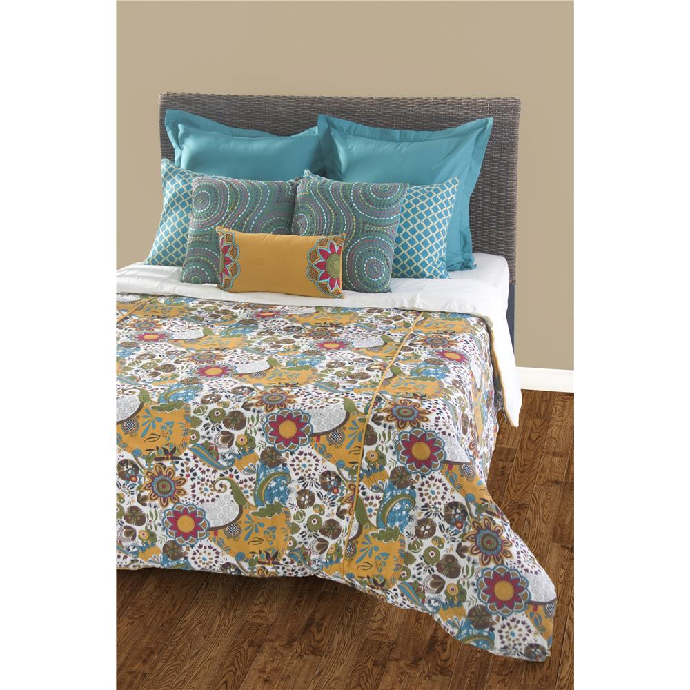 Rizzy Home BT0897 Carmen Queen Duvet with Poly Insert Bed Set in Teal