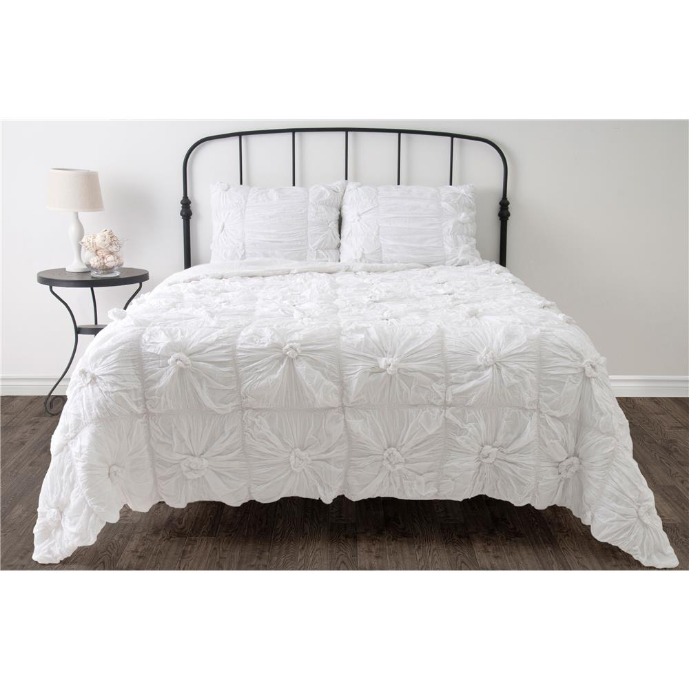 "Rizzy Home BT1081 SK Q 16"" drop Solid Color Bed Skirt"