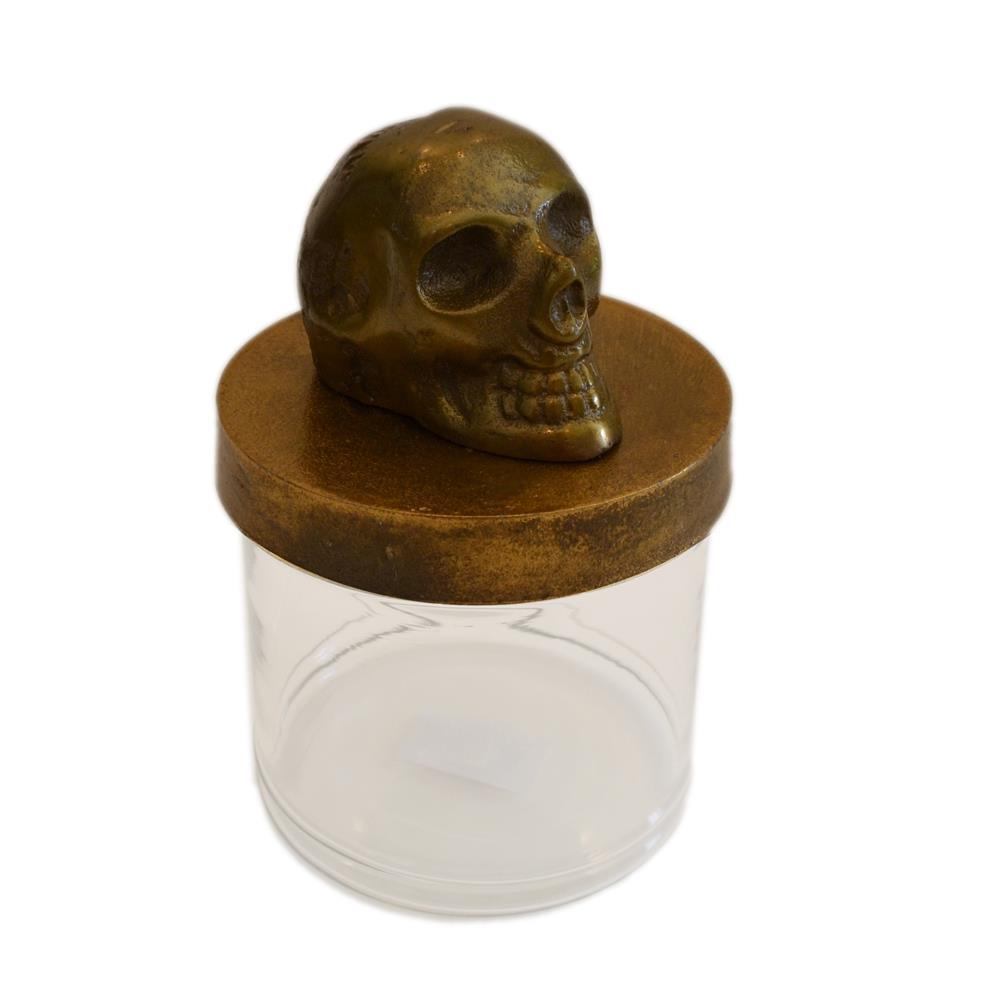 Brunei by Rojo 16 771 Skull Design Rustic Gold Skull Canister