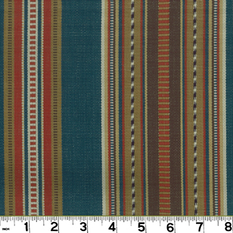 Roth and Tompkins D2485 NAVAJO 9 Fabric in DENIM