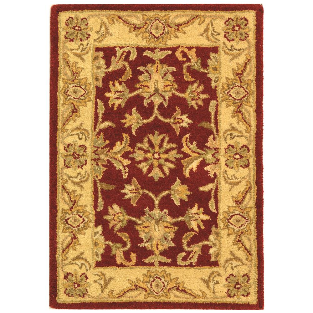 At312c 2 safavieh at312c antiquity traditional 2 39 x 3 for Red and gold area rugs