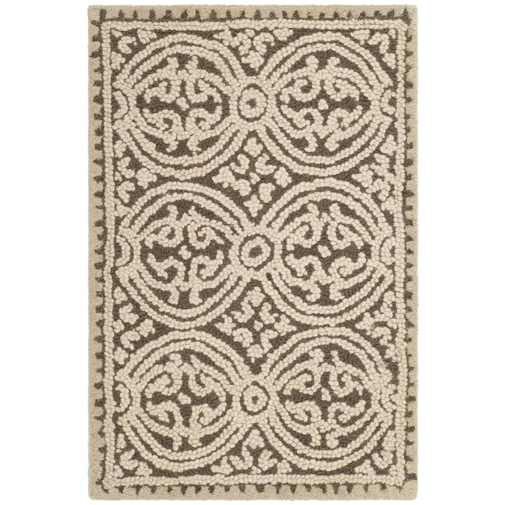 Safavieh CAM232A-2 Cambridge Area Rug in BROWN / WHITE