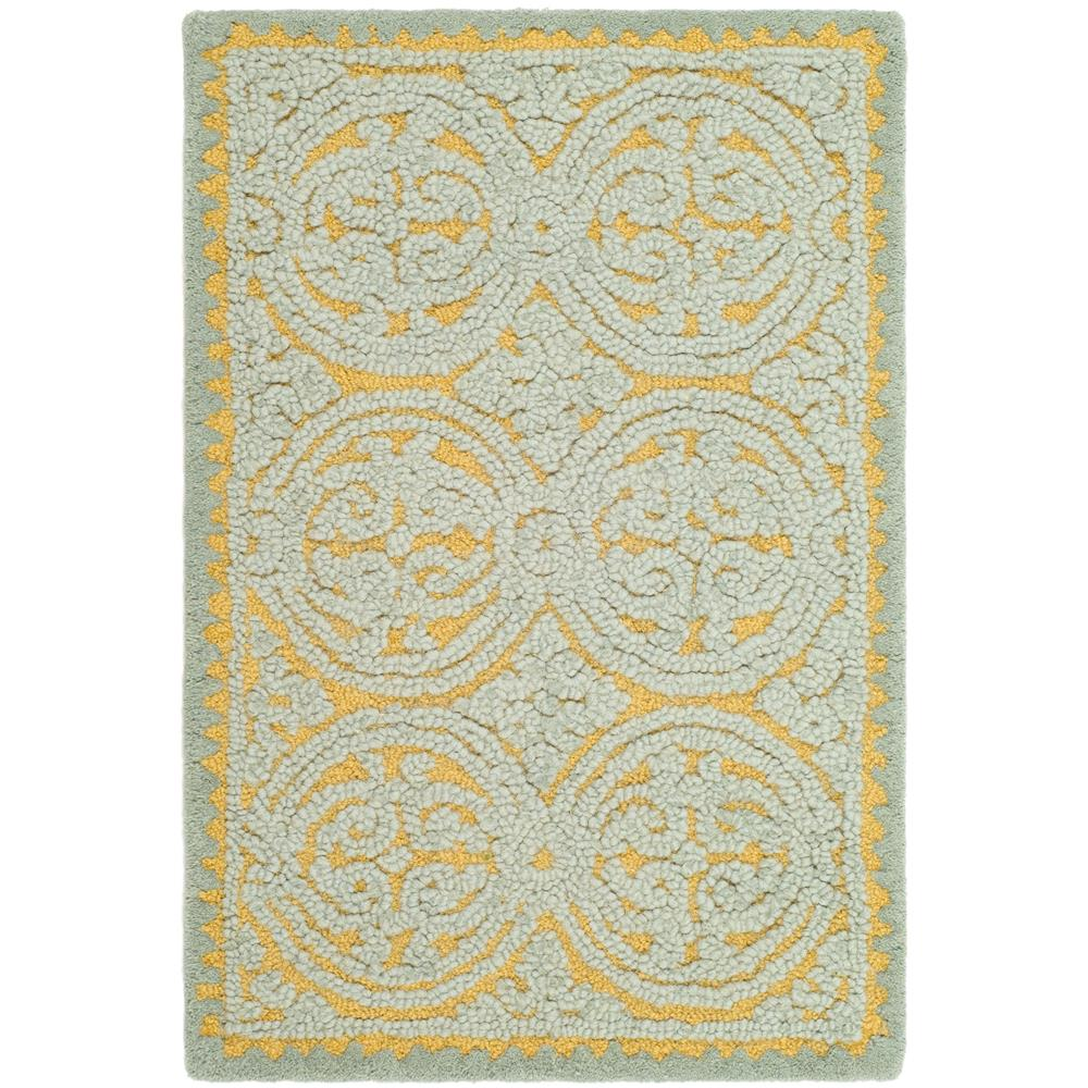 Safavieh CAM234A-2 Cambridge Area Rug in BLUE / GOLD
