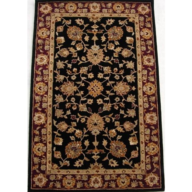 Safavieh HG112A-2 Heritage Area Rug in BLACK / RED