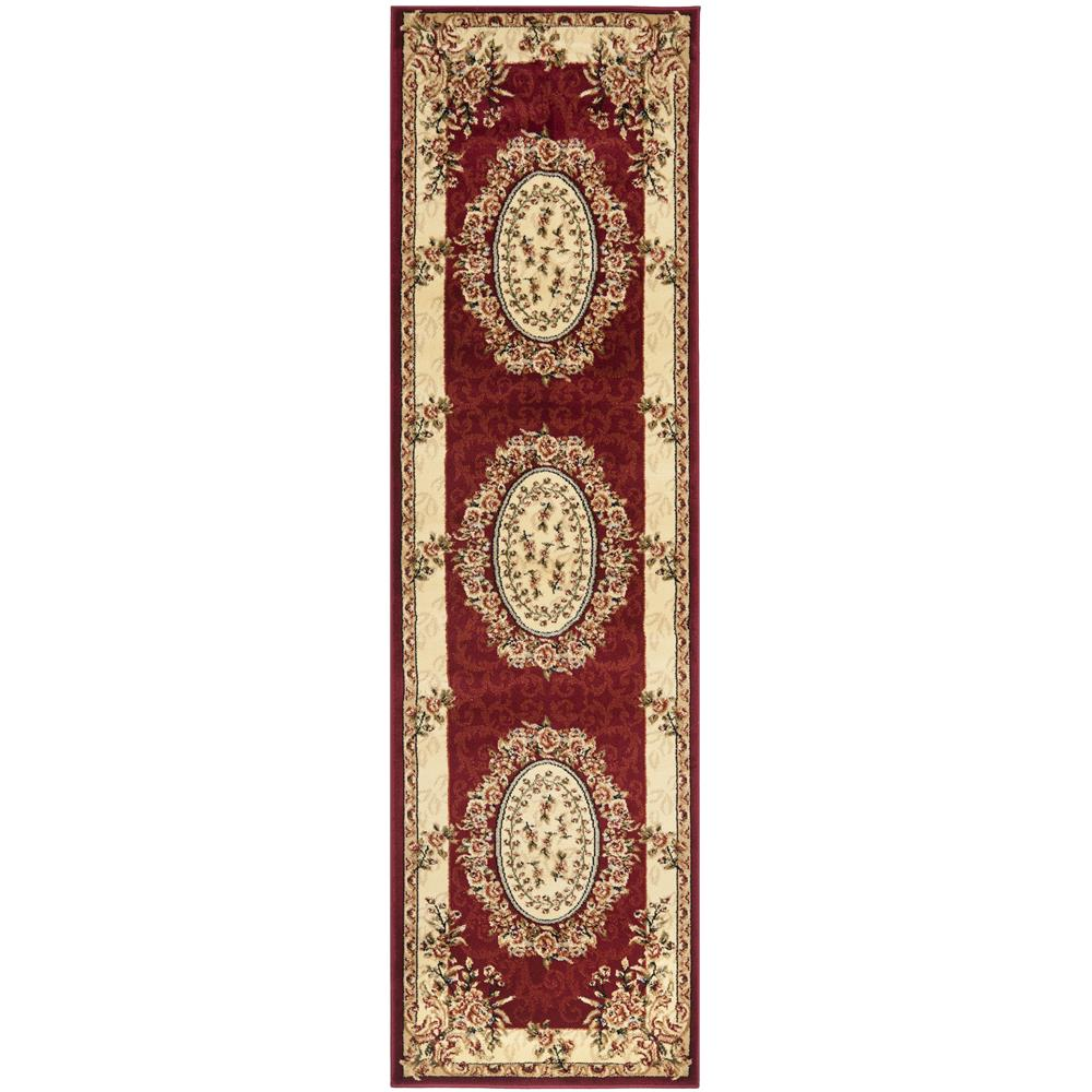 Safavieh LNH328C-26 Lyndhurst Area Rug in RED / IVORY