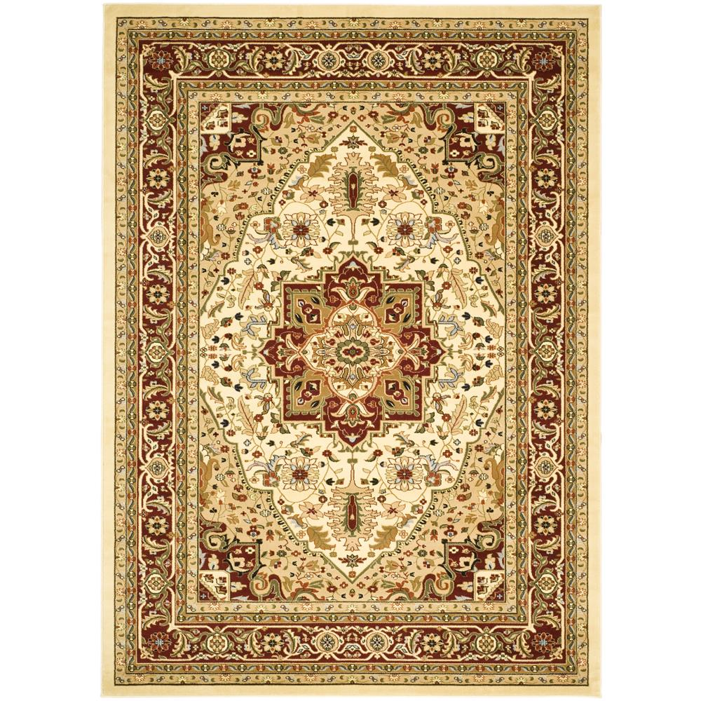 Safavieh LNH330A-26 Lyndhurst Area Rug in IVORY / RED