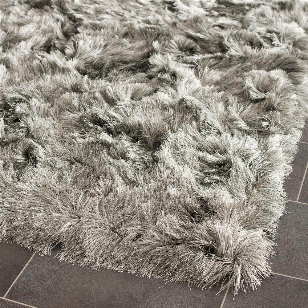 Safavieh SG511-7575-2 Paris Shag Area Rug in SILVER / SILVER