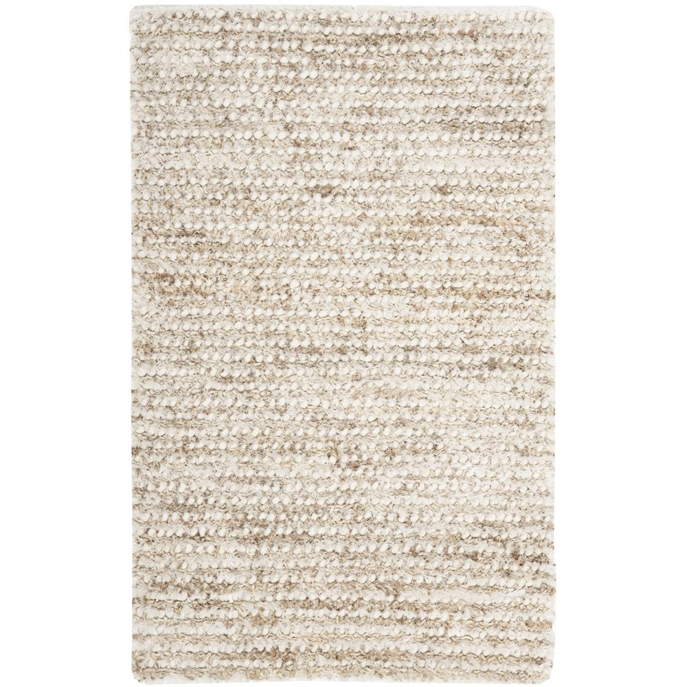 Safavieh SG640A-3 Shag Area Rug in WHITE / BEIGE