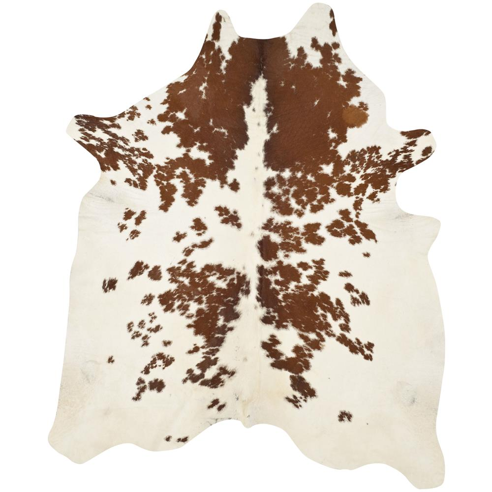 Safavieh COH211A-5 Cow Hide Area Rug in Brown / White