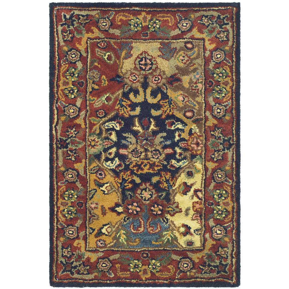 Safavieh HG911A-2 Heritage Area Rug in Multi / Burgundy