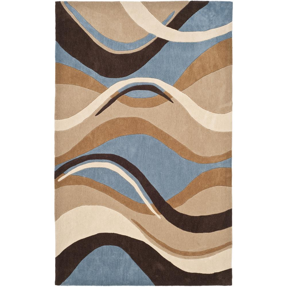 MDA617A 4   Safavieh MDA617A 4 Modern Art Area Rug In BLUE / BROWN    GoingRugs
