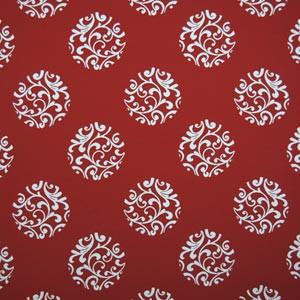 Silver State FLORENCE FIRE RED Fabric in Fire Red