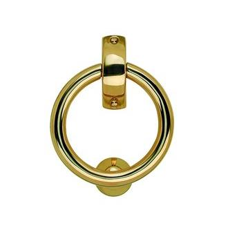Smedbo B098P 5 1/8 in. Finnish Ring Knocker in Polished Brass