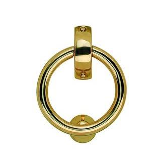 Smedbo B098P 5 1/8 in. Finnish Ring Knocker in Polished Brass