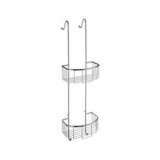 Smedbo DK1041 8 5/8 in. Hanging Double Level Shower Basket in Polished Chrome from the Sideline Collection