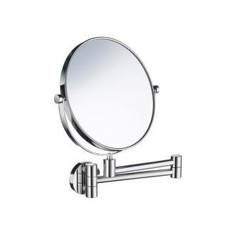 Smedbo FK430 7 7/8 in. Swiveling Wall Mounted Shaving Mirror in Polished Chrome from the Outline Collection