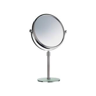 Smedbo FK437 7 7/8 in. Free Standing Shaving Mirror in Polished Chrome with Frosted Acrylic Base from the Outline Collection
