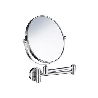 Smedbo FK438 7 7/8 in. Swiveling Wall Mounted 5x Magnification Shaving Mirror in Polished Chrome from the Outline Collection