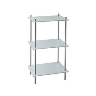 Smedbo FK453 28 3/4 in. Free Standing 3 Tiered Bathroom Shelf in Polished Chrome from the Outline Collection
