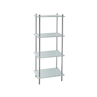 Smedbo FK454 39 1/2 in. Free Standing 4 Tiered Bathroom Shelf in Polished Chrome from the Outline Collection
