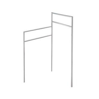 Smedbo FK610 31 in. Free Standing 2 Tiered Towel Bar in Polished Stainless Steel from the Outline Lite Collection