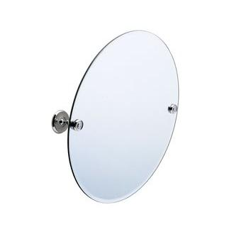 Smedbo K210 22 in. Wall Mounted Round Mirror in Polished Chrome from the Villa Collection