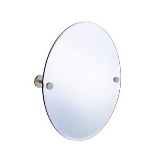 Smedbo L310N 24 in. Wall Mounted Oval Mirror in Brushed Nickel from the Loft Collection