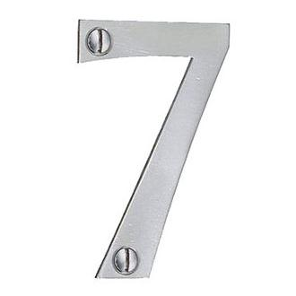 Smedbo B987 2 in. Self Adhesive Brushed Stainless Steel Mail Box Number 7