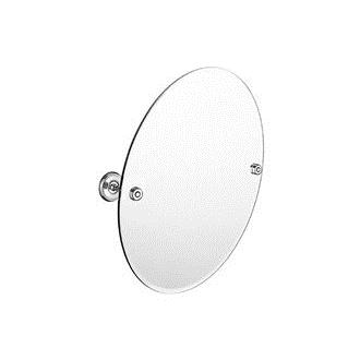 Smedbo V2103N 24 in. Wall Mounted Oval Mirror in Brushed Nickel from the Villa Collection