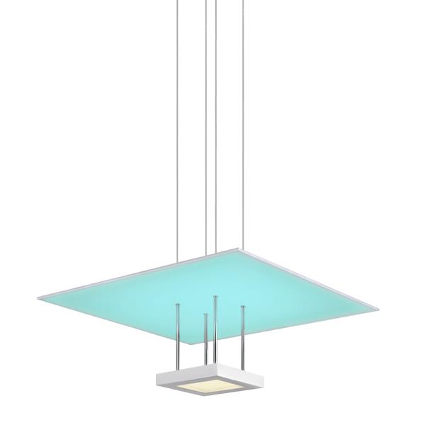 Sonneman 2602.03 CHROMAGLO™ SPECTRUM LED Square Reflector Pendant in Satin White