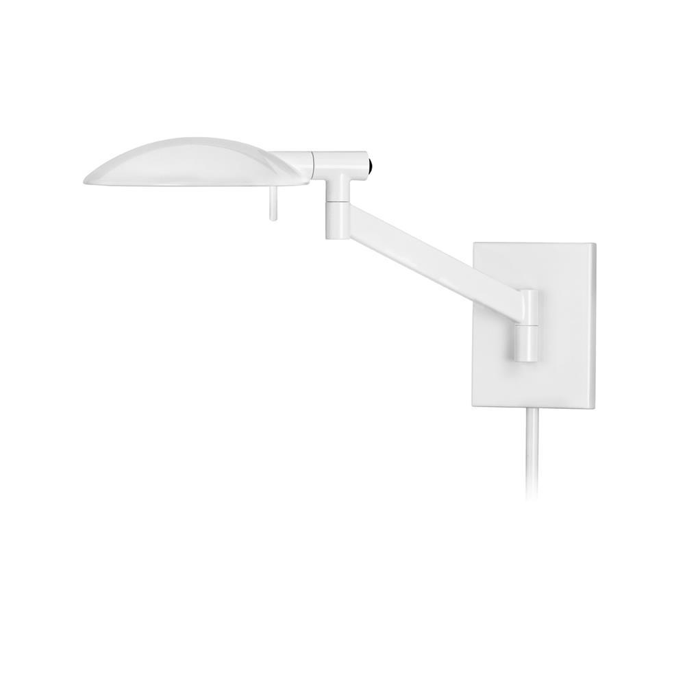 Sonneman 7085.6 PERCH PHARMACY Swing Arm Wall Lamp in Gloss White Paint