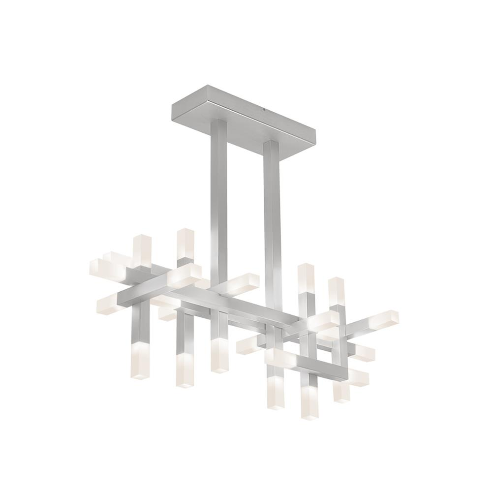 Sonneman 2133.16 Connetix® LED Bar Pendant in Bright Satin Aluminum