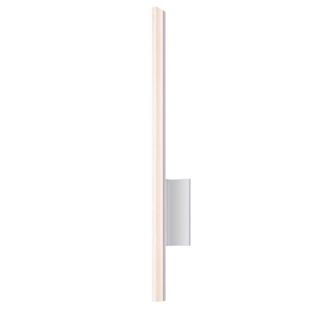 "Sonneman 2340.16-DIM Stiletto 24"" LED Sconce/Bath Bar in Bright Satin Aluminum"