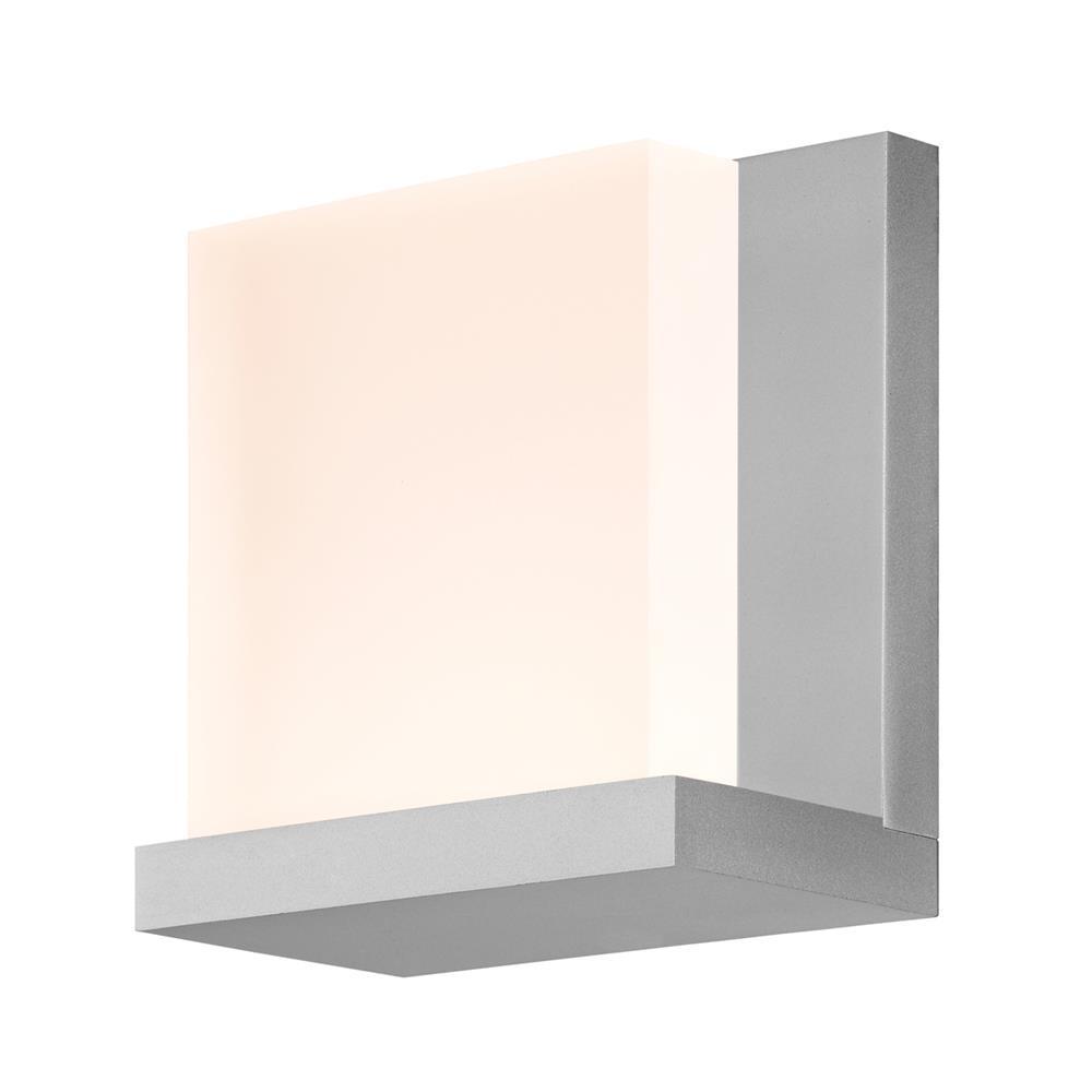 Sonneman 2350.16 Glow2 LED Sconce in Bright Satin Aluminum