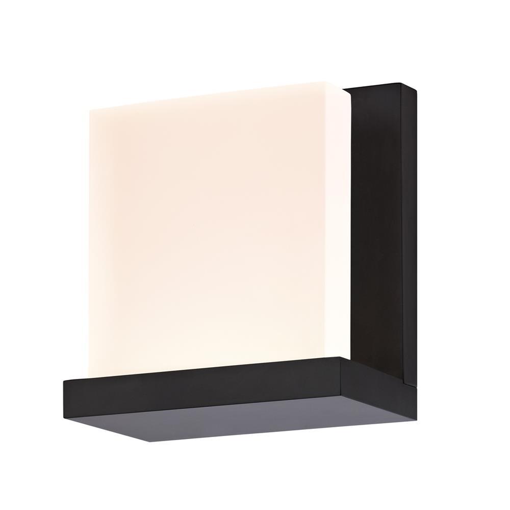 Sonneman 2350.25 Glow2 LED Sconce in Satin Black