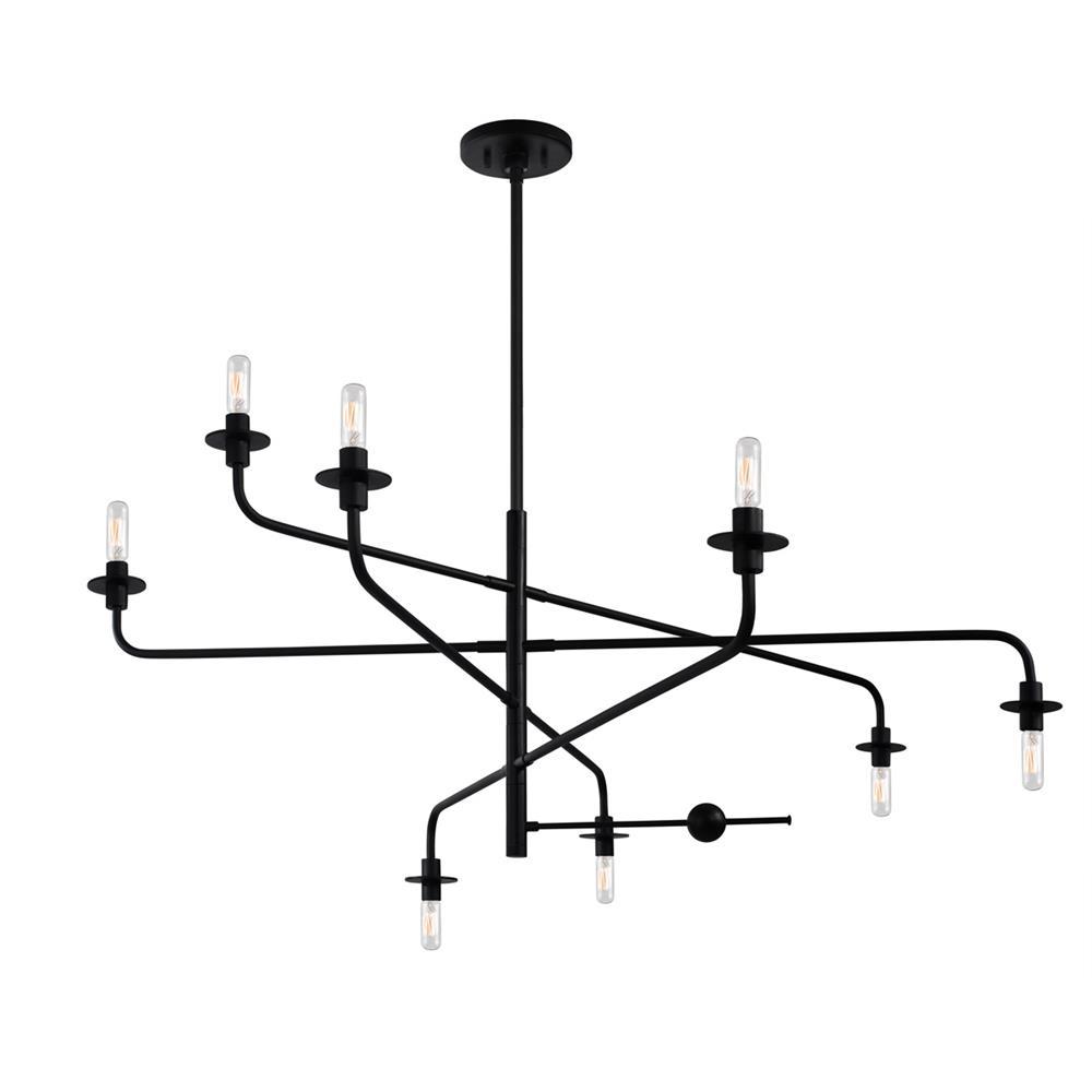 Sonneman 4548.25 Atelier 8-Light Pendant in Satin Black