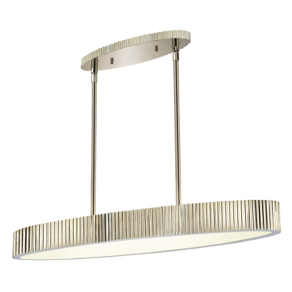 Sonneman 4624.35 Paramount Oval Pendant in Polished Nickel