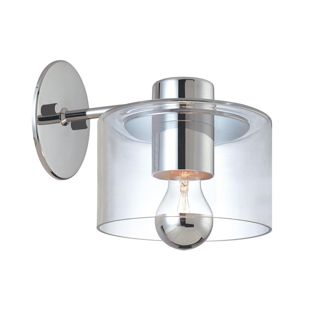 Sonneman 4801.01 Transparence Sconce in Polished Chrome