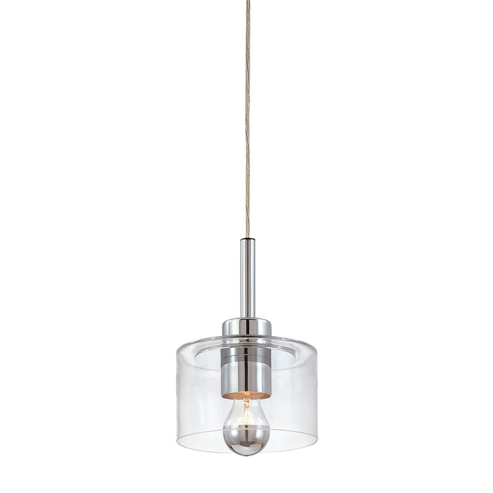 Sonneman 4802.01 Transparence 1-Light Pendant in Polished Chrome