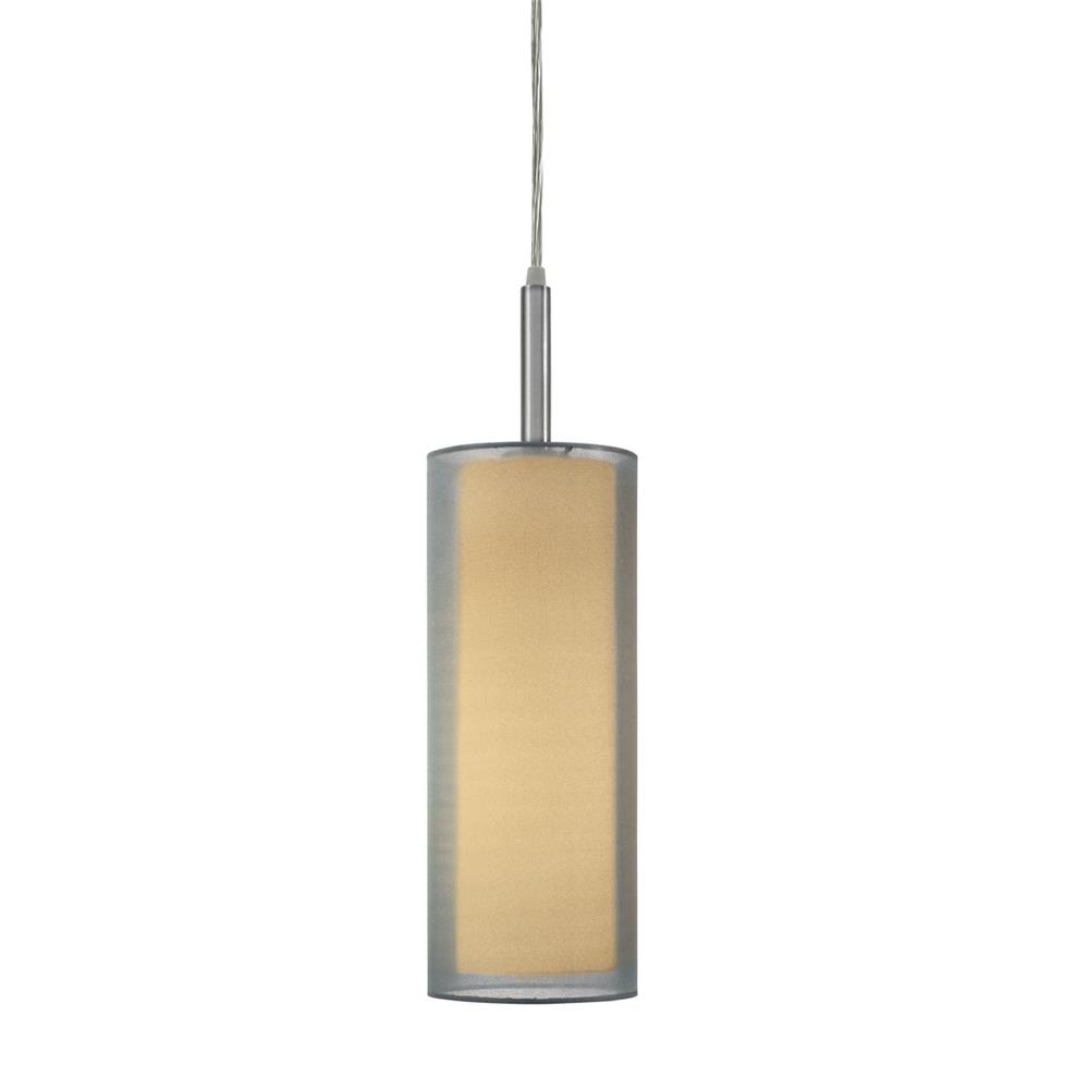 "Sonneman 6006.13F Puri 5"" Cylinder Pendant in Satin Nickel"